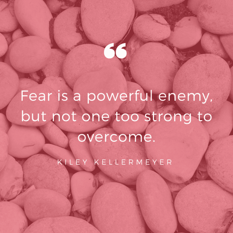 Fear is a powerful enemy but not one too strong to overcome. - 50 Facing Fear Quotes that Help You to be Brave (FOR ANY SITUATIONS)