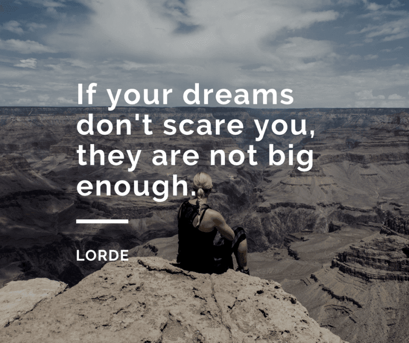 If your dreams dont scare you they are not big enough. - 50 Facing Fear Quotes that Help You to be Brave (FOR ANY SITUATIONS)