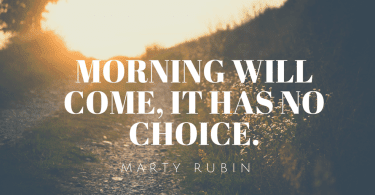 Morning will come it has no choice.1 375x195 - 50 New Chapter in Life Quotes to Inspire You (MOVE FORWARD)