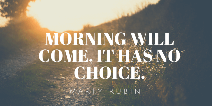 Morning will come it has no choice.1 - 50 New Chapter in Life Quotes to Inspire You (MOVE FORWARD)
