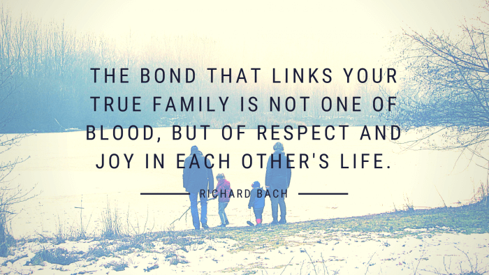 The bond that links your true family is not one of blood but of respect and joy in each others life. - 36 Unforgettable Quotes About the Importance of Family