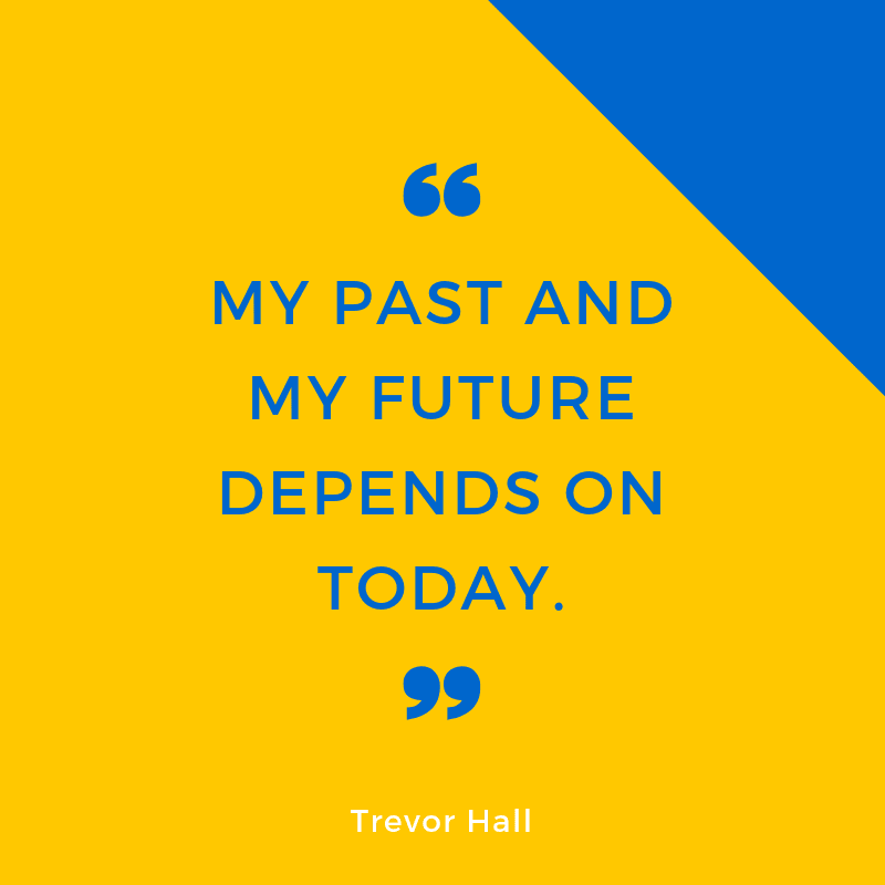 MY PAST AND MY FUTURE DEPENDS ON TODAY. - 93 Inspiring Quotes About Enjoying the Moment