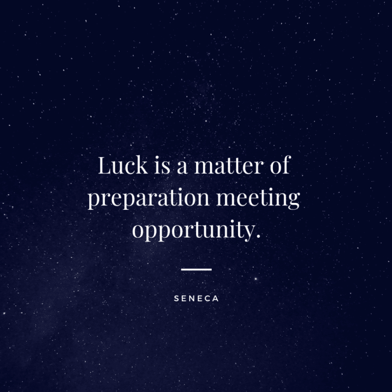 Luck is a matter of preparation meeting opportunity. - 80 Encouraging Quotes for Passionate Work Everyday