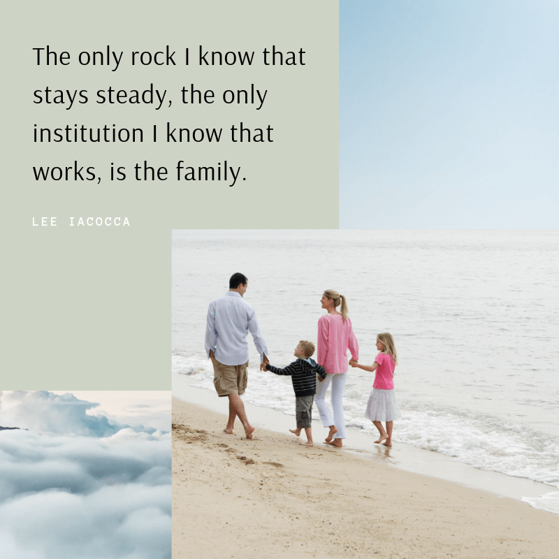 The only rock I know that stays steady the only institution I know that works is the family. - 75 Quotes About The Meaning of Having Family (BEST REMINDERS)