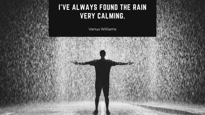 Ive always found the rain very calming. - 29 Rain Quotes To Lift Your Happiness, Spirit, And Make You Happy Or Laugh