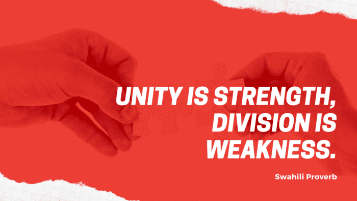 Unity is strength division is weakness. - 52 Inspirational Quotes on Unity that Will Help You Unite