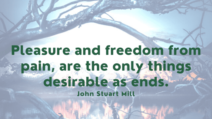 Pleasure and freedom from pain are the only things desirable as ends. - 52 Painful Quotes To Make You Strong And Happy Again