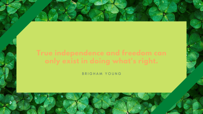 True independence and freedom can only exist in doing whats right. - 24 Independent Quotes that will Inspire and Motivate You