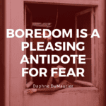 Boredom is a pleasing antidote for fear - 41 I am Bored Quotes to Show Your Feeling Right Now