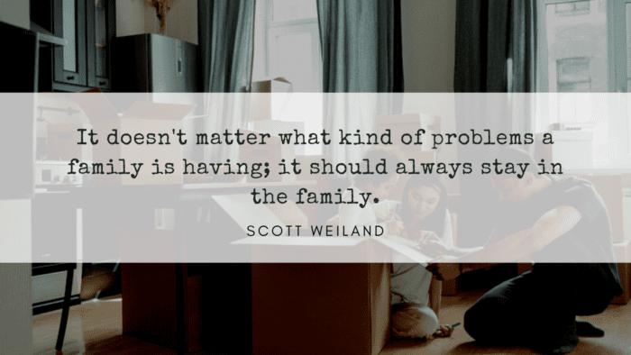 It doesnt matter what kind of problems a family is having it should always stay in the family. - 20 Family Problem Quotes for Remind You There is no Family Perfect