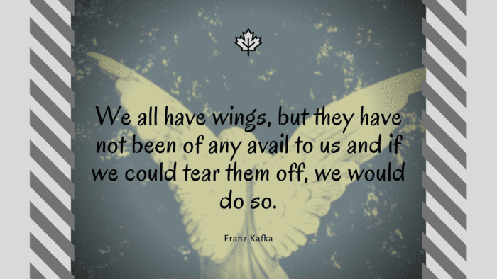 We all have wings but they have not been of any avail to us and if we could tear them off we would do so. - 28 Wings Quotes to Give Spirit on Life