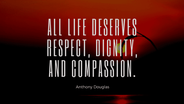 All life deserves respect dignity and compassion. - 28 Dignity Quotes from Famous People that will Inspire You
