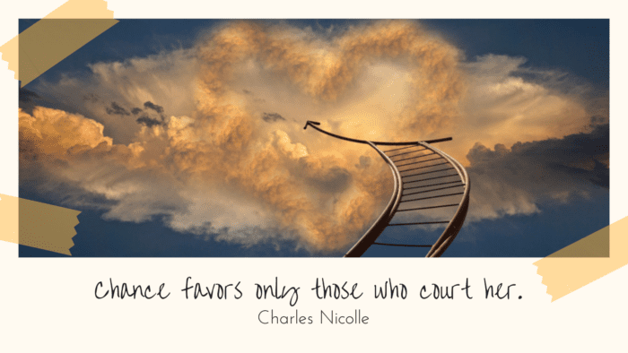 Chance favors only those who court her. - 27 Quotes About Taking a Chances will Encourage You to be All You Can be