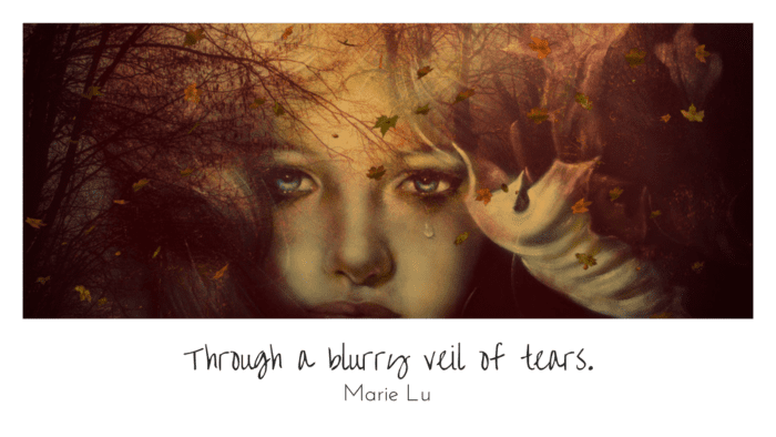 Through a blurry veil of tears. - 22 Quotes About Blurry to give you inspiration and motivation in life
